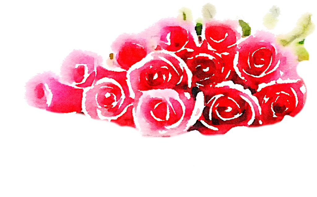 Clipart roses watercolor. Free pile png freetouse