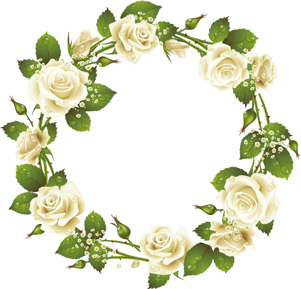 Clipart rose wreath. Picture frame pink clip