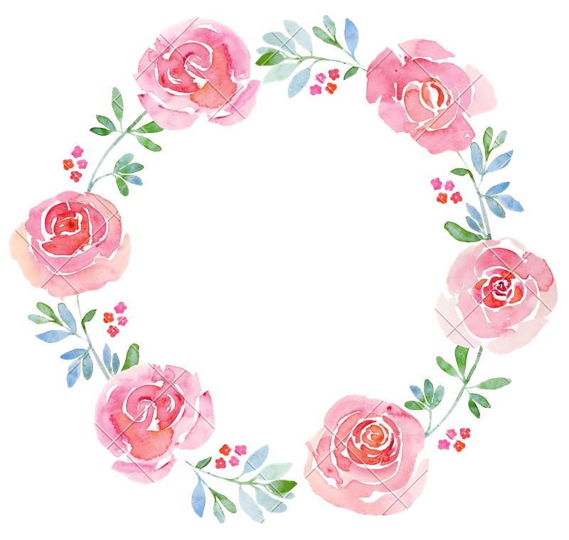 Beautiful wreath photos by. Flower watercolor png