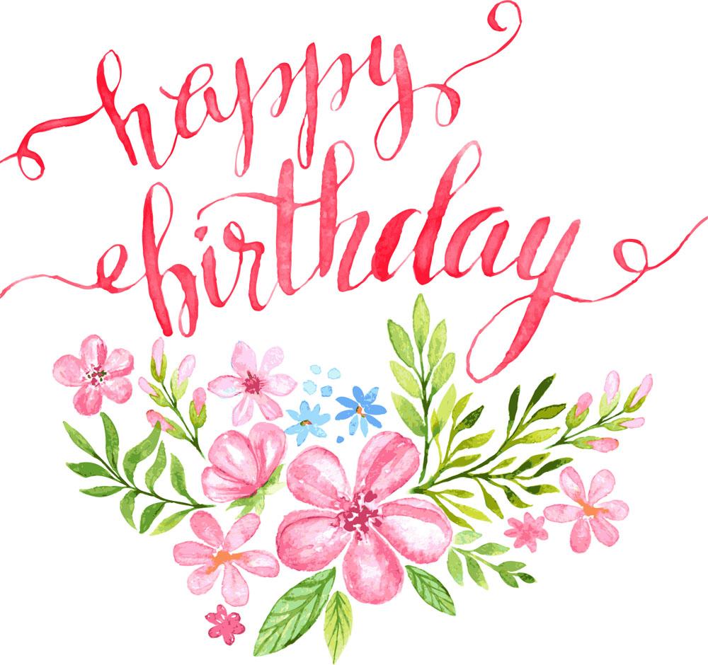Happy flower pdf . Clipart roses birthday