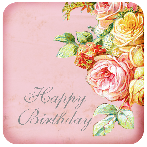 Clipart roses birthday. Happy card flower rose