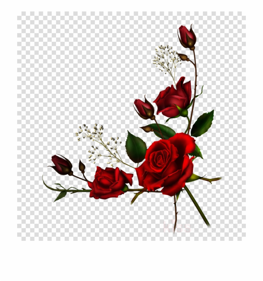 Clipart roses boarder. Download png rose clip