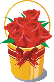 Of rose flower clip. Clipart roses bucket
