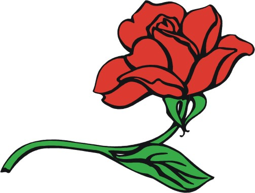 Clipart roses cartoon. Free red rose download
