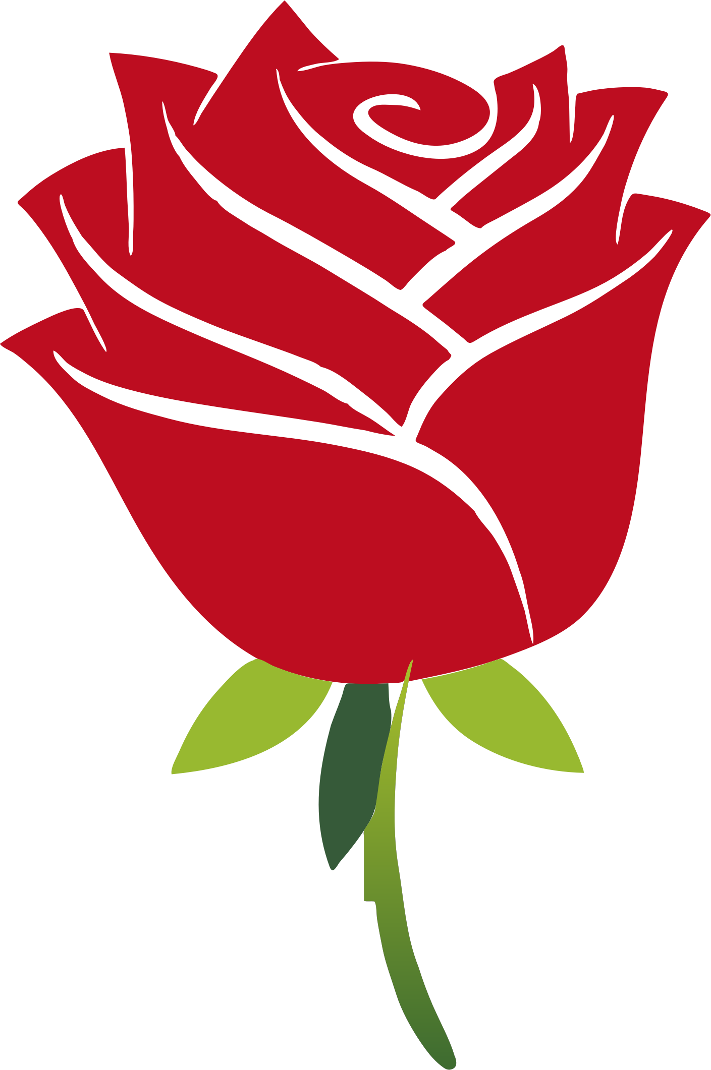 Clipart roses curved. Stylized rose no drop