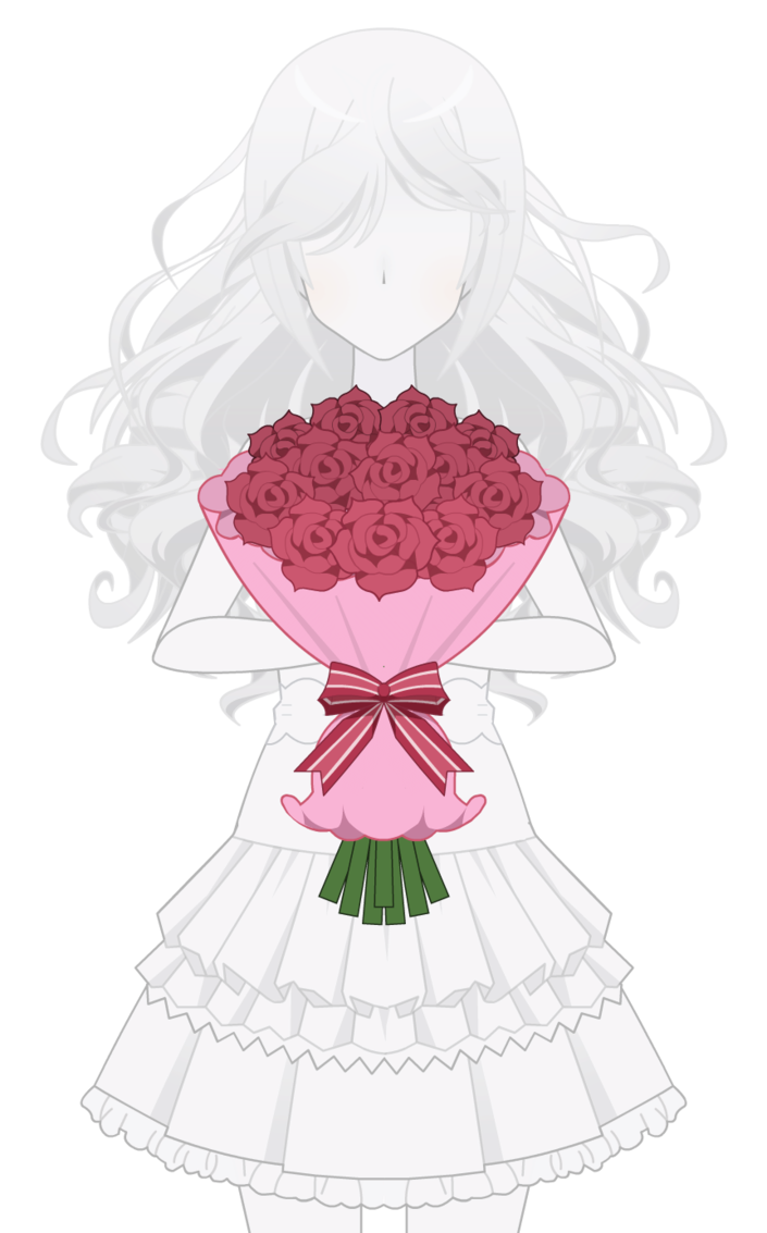 Rose bouquet kisekae export. Clipart roses dying