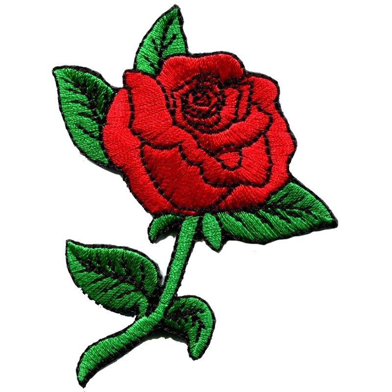 Red rosa images transparentpng. Clipart roses embroidery