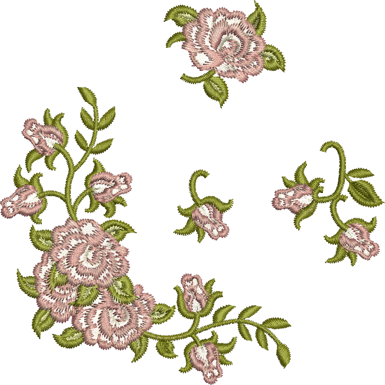 Clipart roses embroidery. Sue box creations download