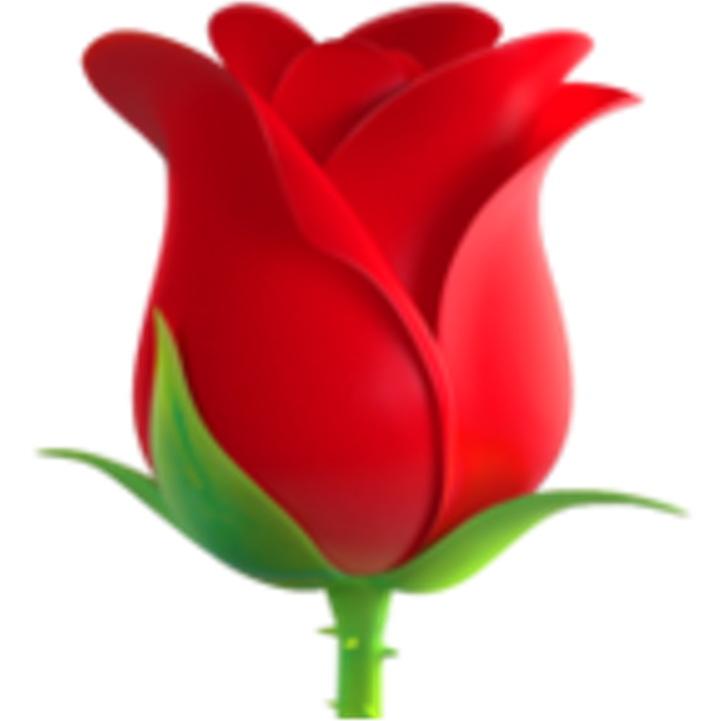 Emoji clipart rose. Iphone flowers