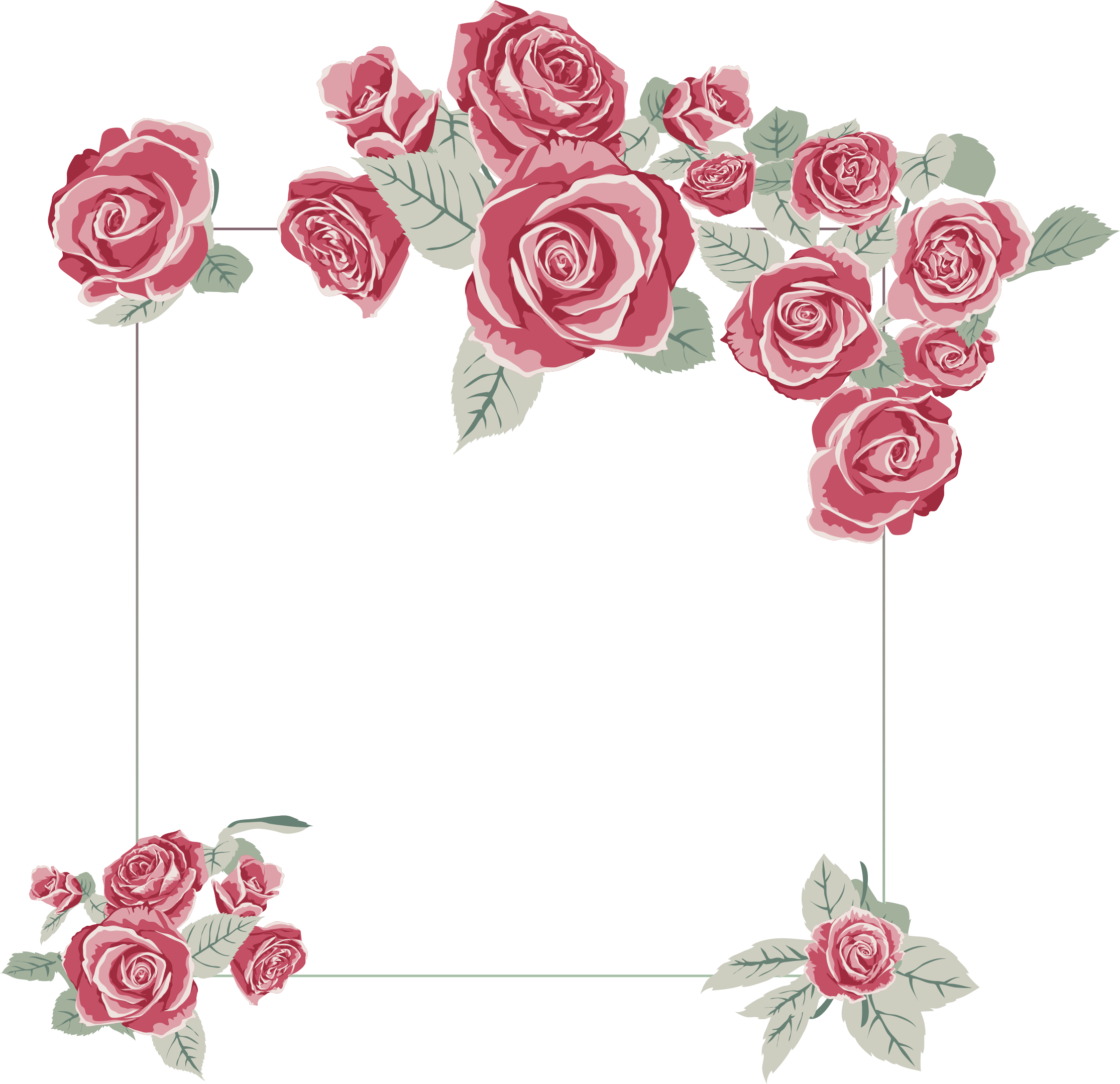 Rose frame png. Images a flower that