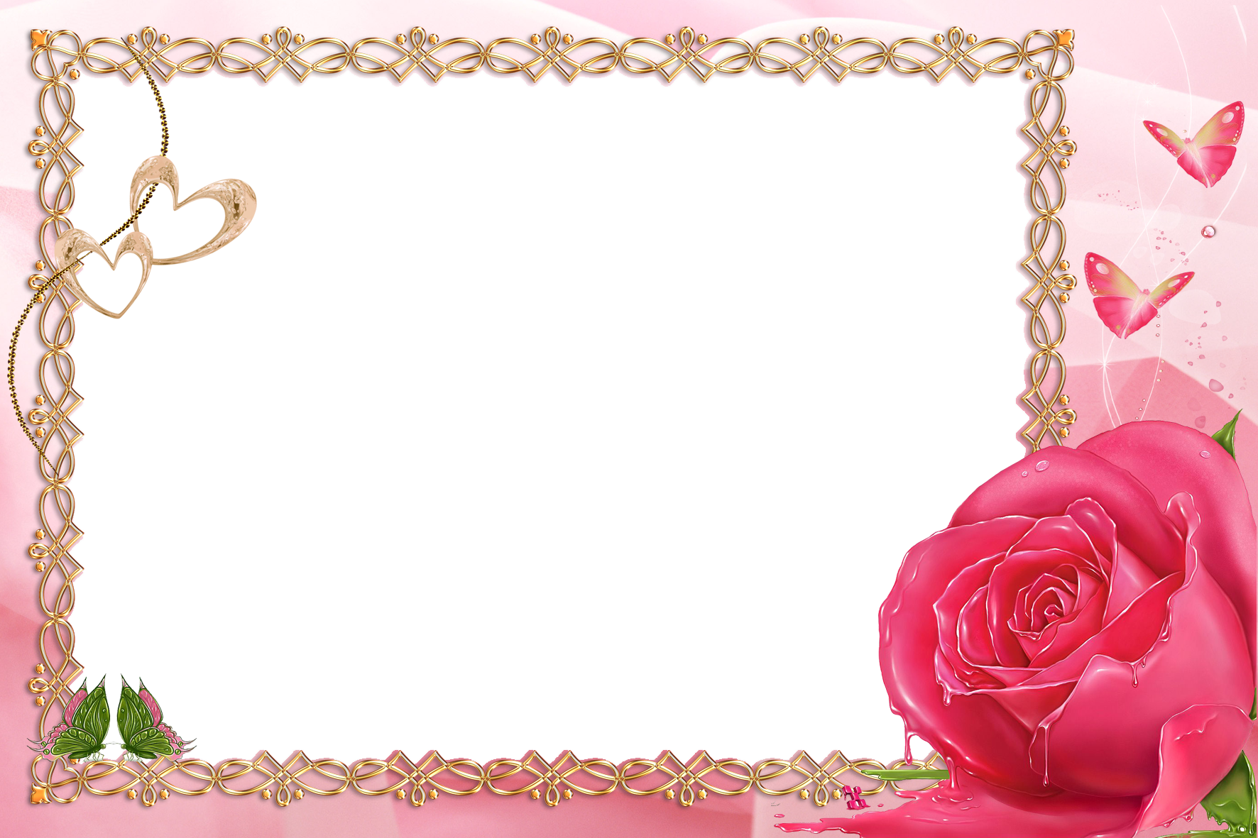 Clipart roses frame. Pink transparent with rose