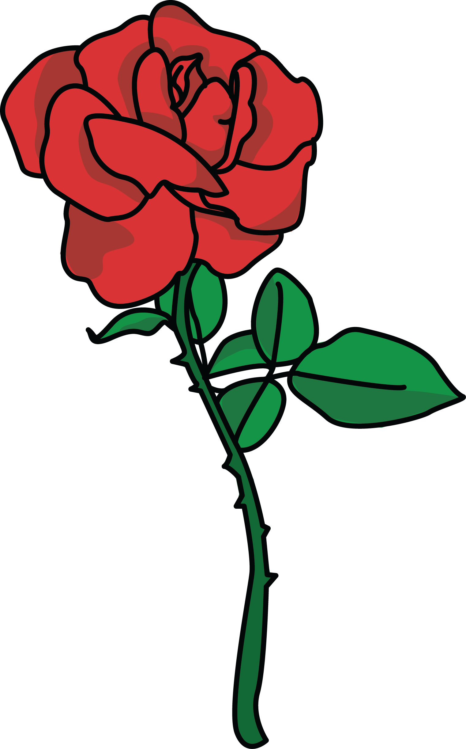 Clipart rose. Free high resolution clip