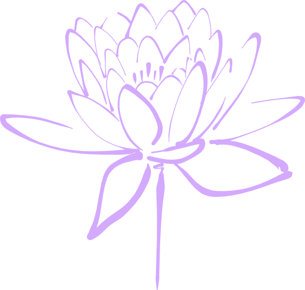 Clipart roses lavendar. Purple flower haily clip