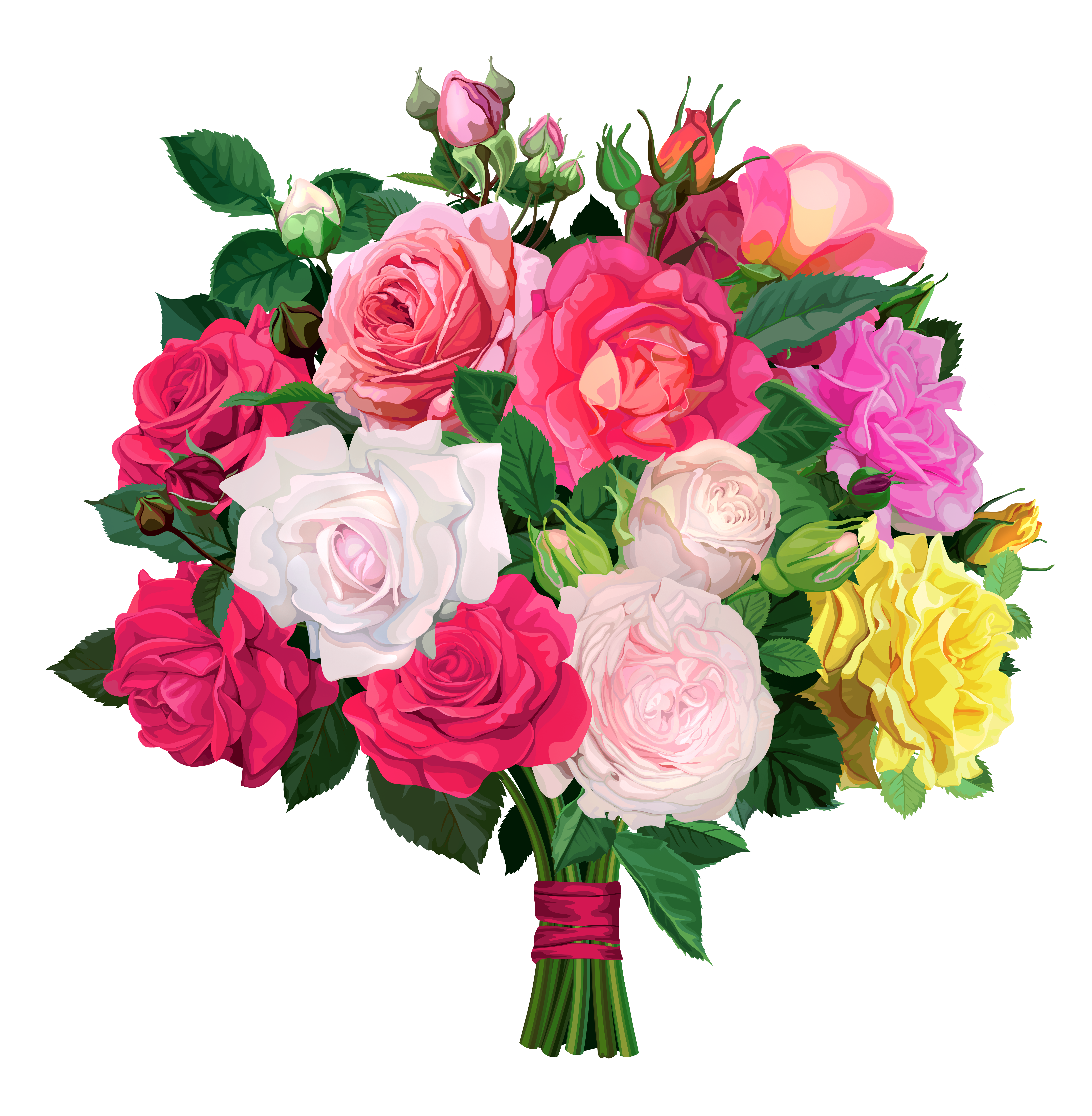Rose bouquet png transparent. Clipart roses modern