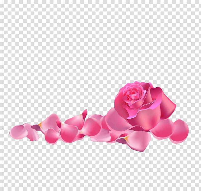 Clipart roses rose petal. Pink illustration garden beach
