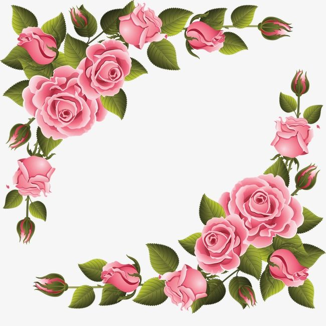 Elegant pink shaped pattern. Clipart roses shape