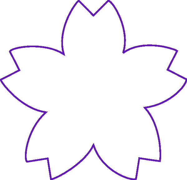 Clipart shapes vector. Flower shape purple clip