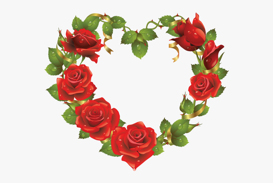 Clipart roses shape. Flowers heart love flower