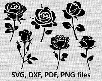 Clipart roses shape. Rose etsy