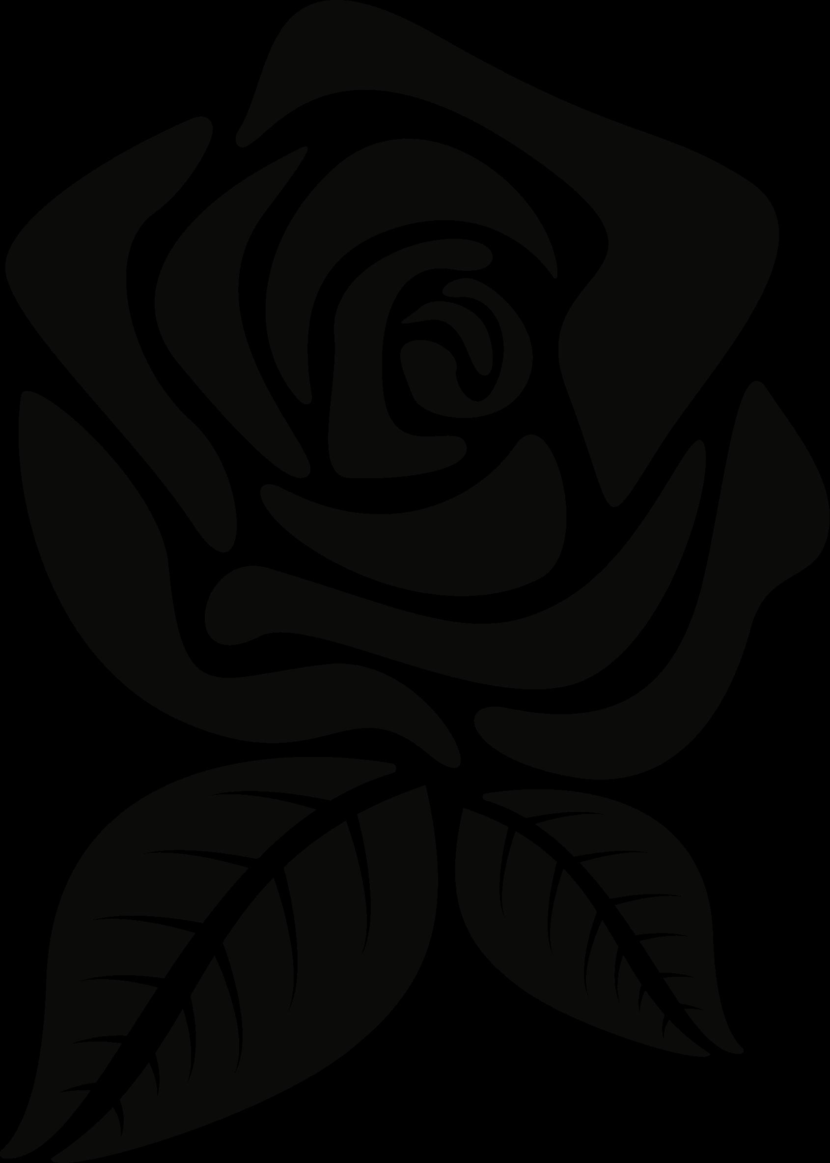 Flower rose clip art. Clipart roses silhouette