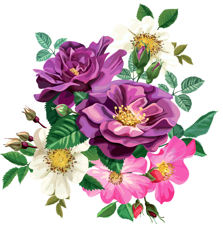 Rose bouquet cl part. Clipart roses snake
