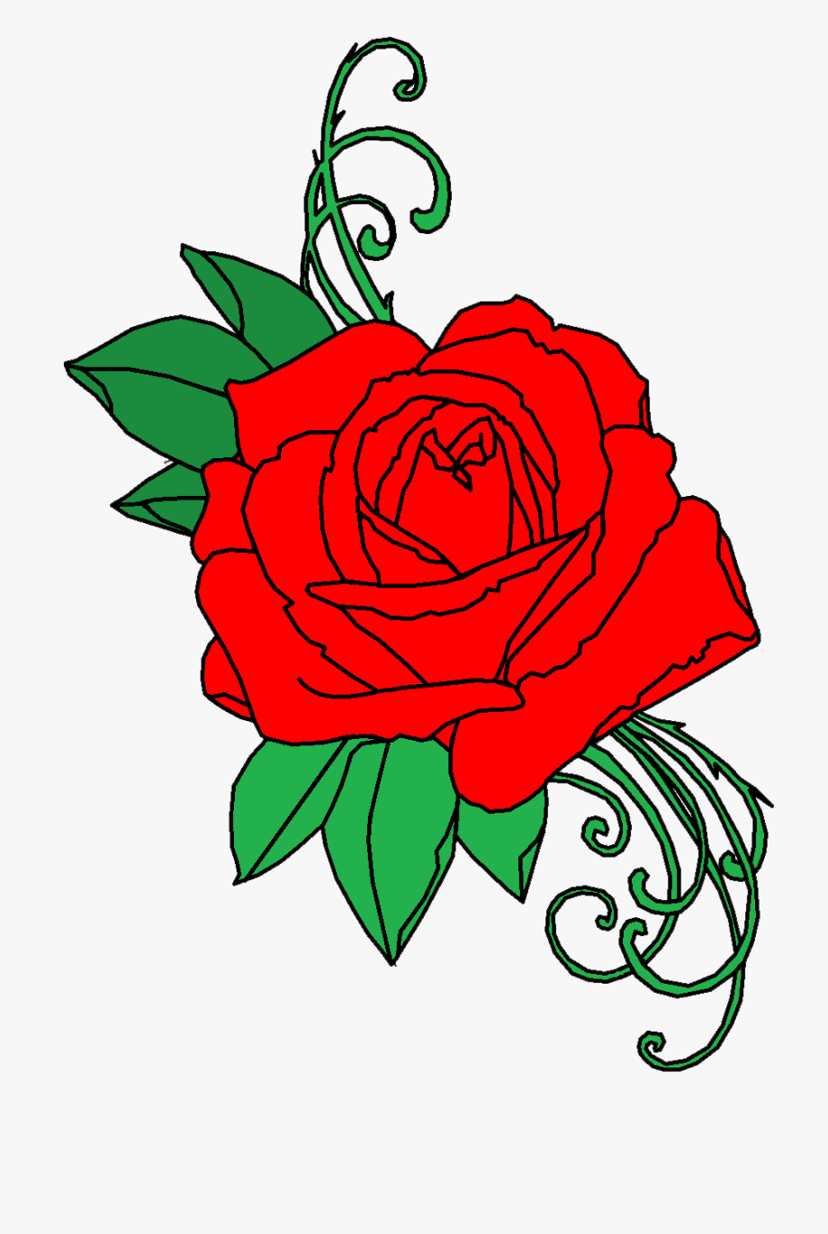 Clipart roses snake. Rose red tattoo png