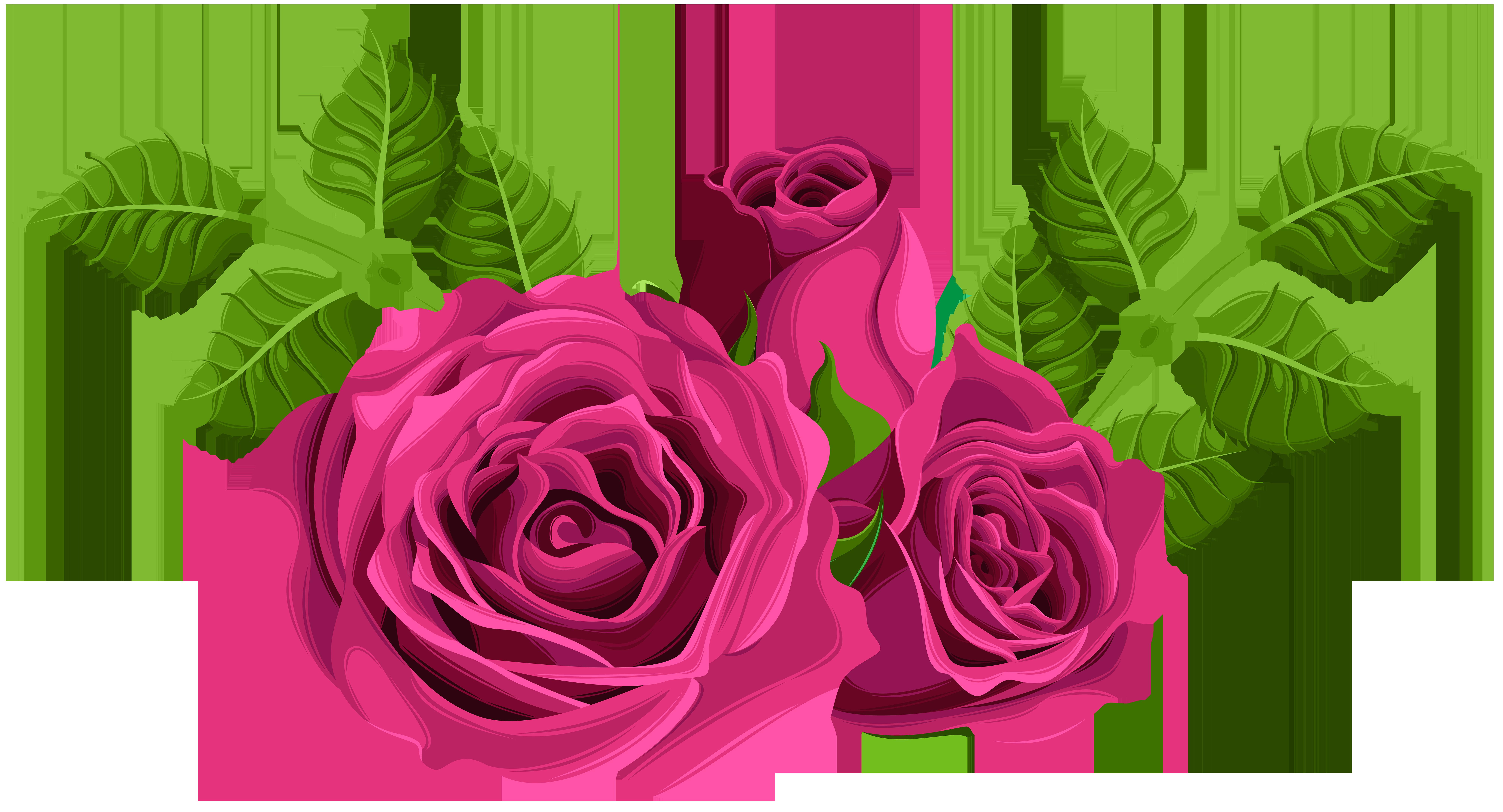 Clipart roses stick. Pink decorative png clip