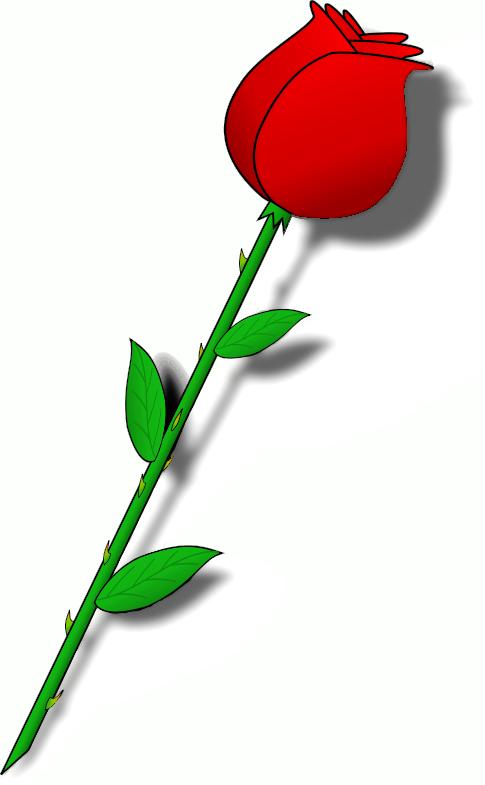 Clipart roses stick. Free rose public domain