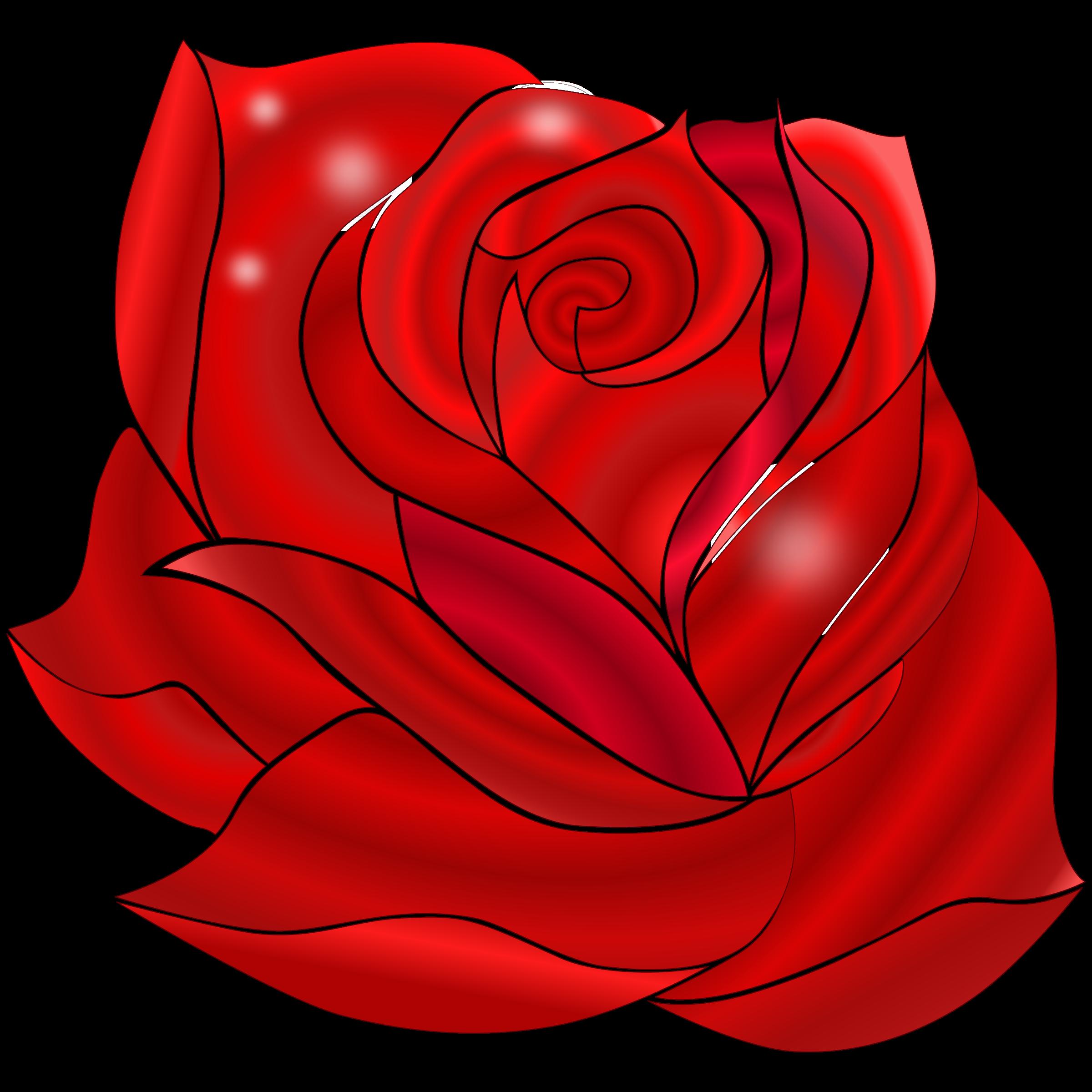 Clipart roses tea. Rosa rossa big image