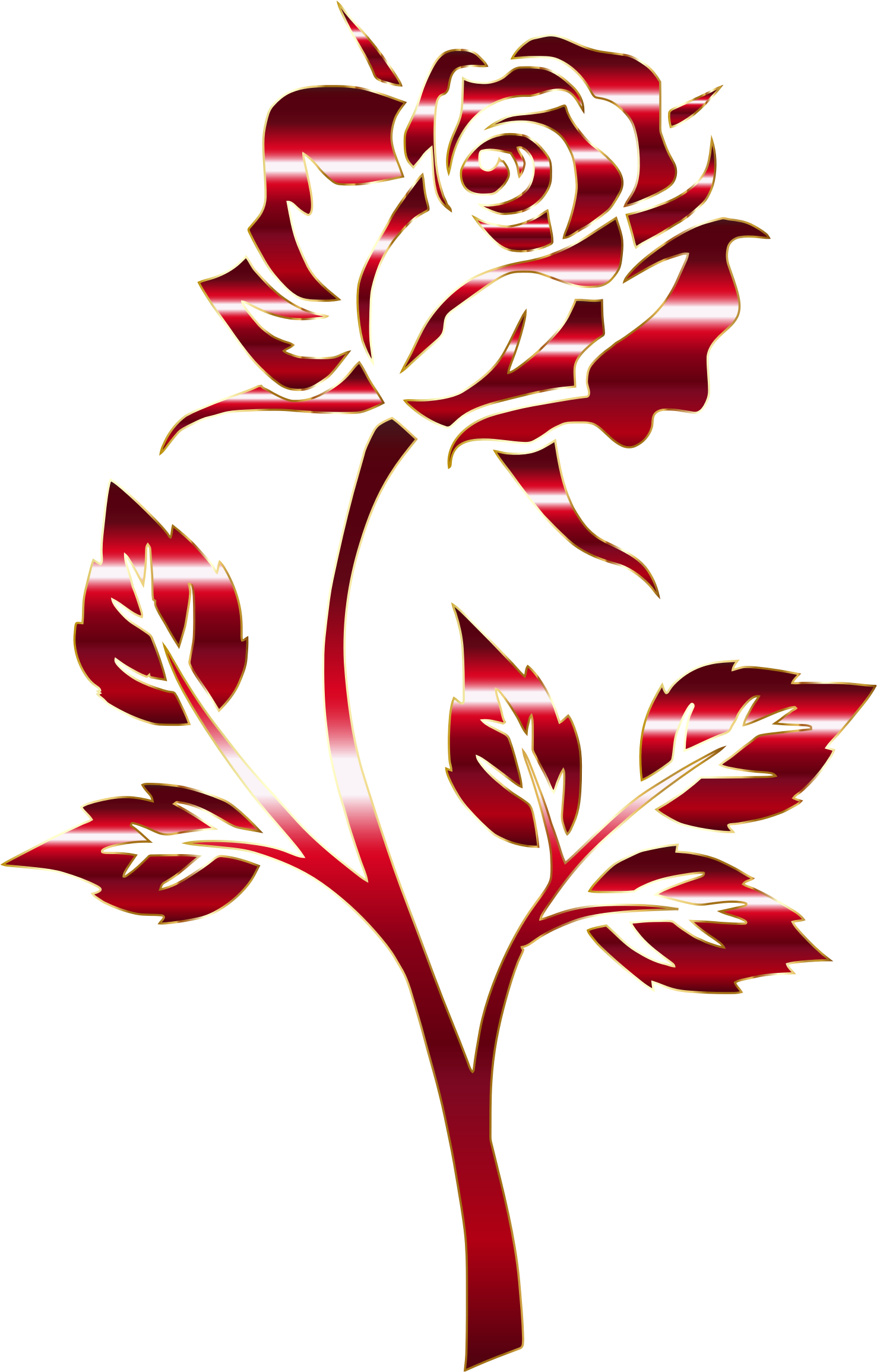 Rose clipart clear background. Crimson silhouette variation no