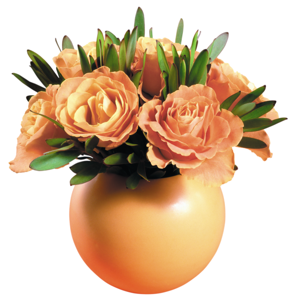 Gallery png . Clipart roses vase