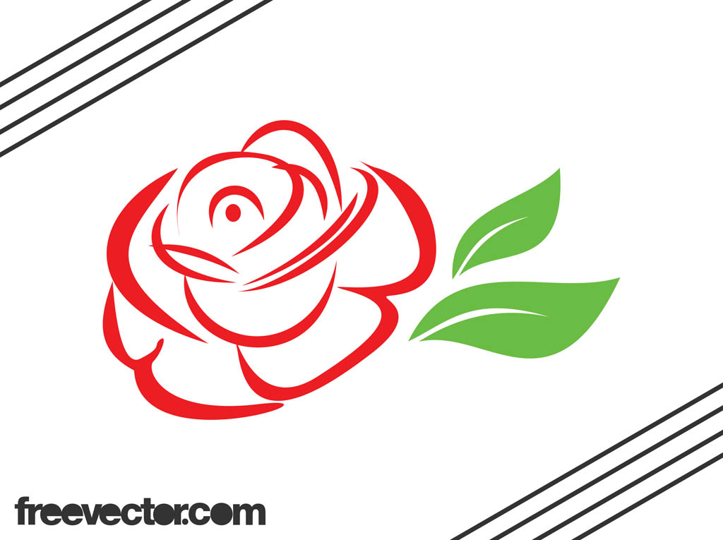 Clipart roses vector. Free rose vectors download