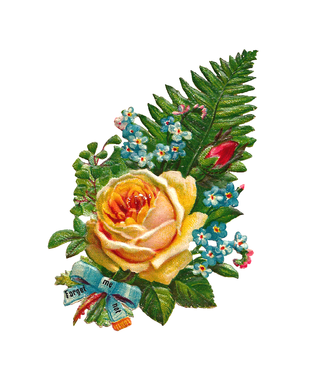 Antique images free digital. Clipart roses yellow rose