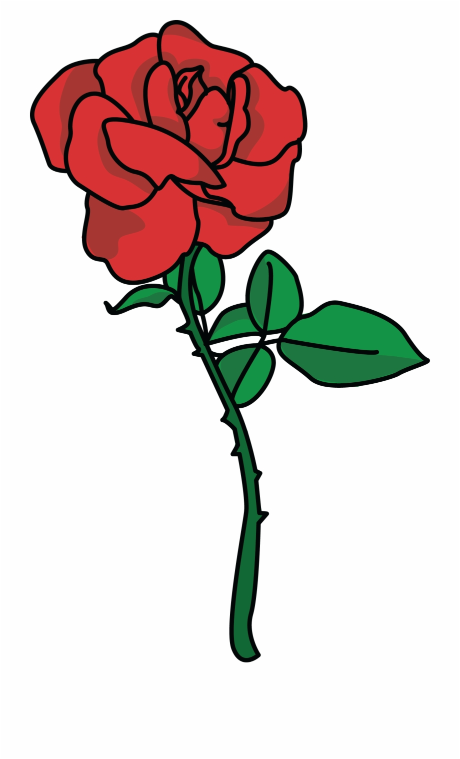 Rose clip art free. Clipart roses