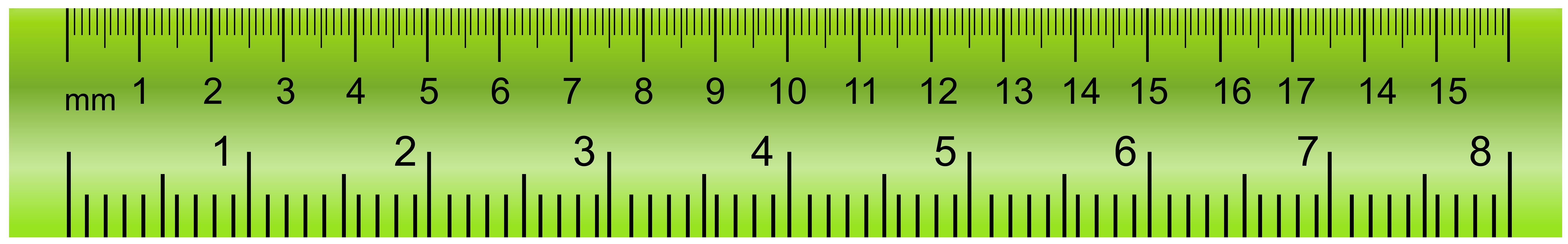 Green clip art images. Ruler clipart