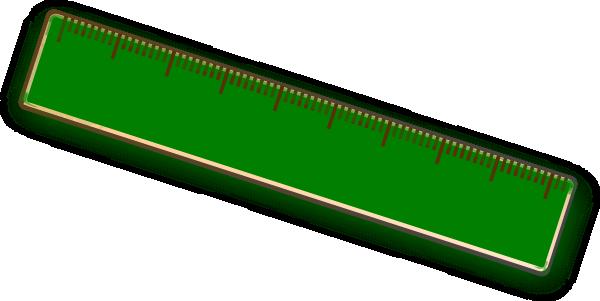 Clipart ruler. Green
