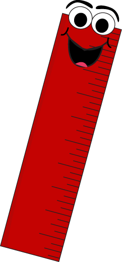 Red cartoon clip art. Ruler clipart