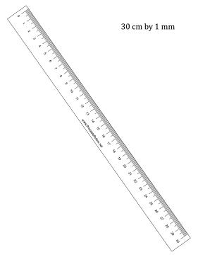 Clipart ruler 30cm ruler. Printable rulers