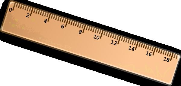 Clipart ruler. Meters