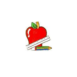 Jkm and pencil applique. Clipart ruler apple