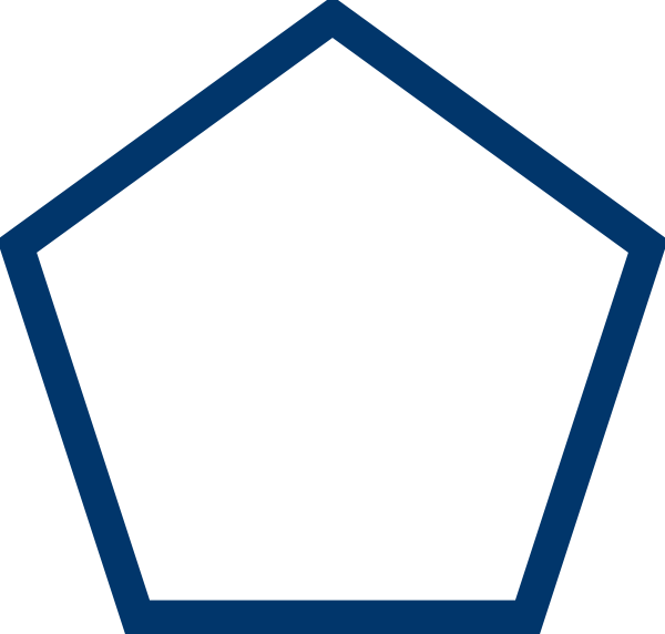 Clipart ruler blue. Pentagon clip art at