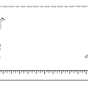 Measurement landscape blank . Clipart ruler border