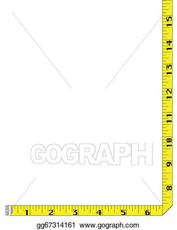 Vector art tape measure. Clipart ruler border