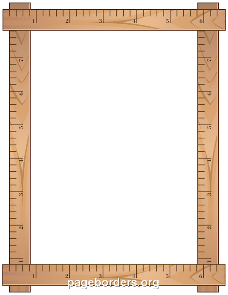 Pin by muse printables. Clipart ruler border