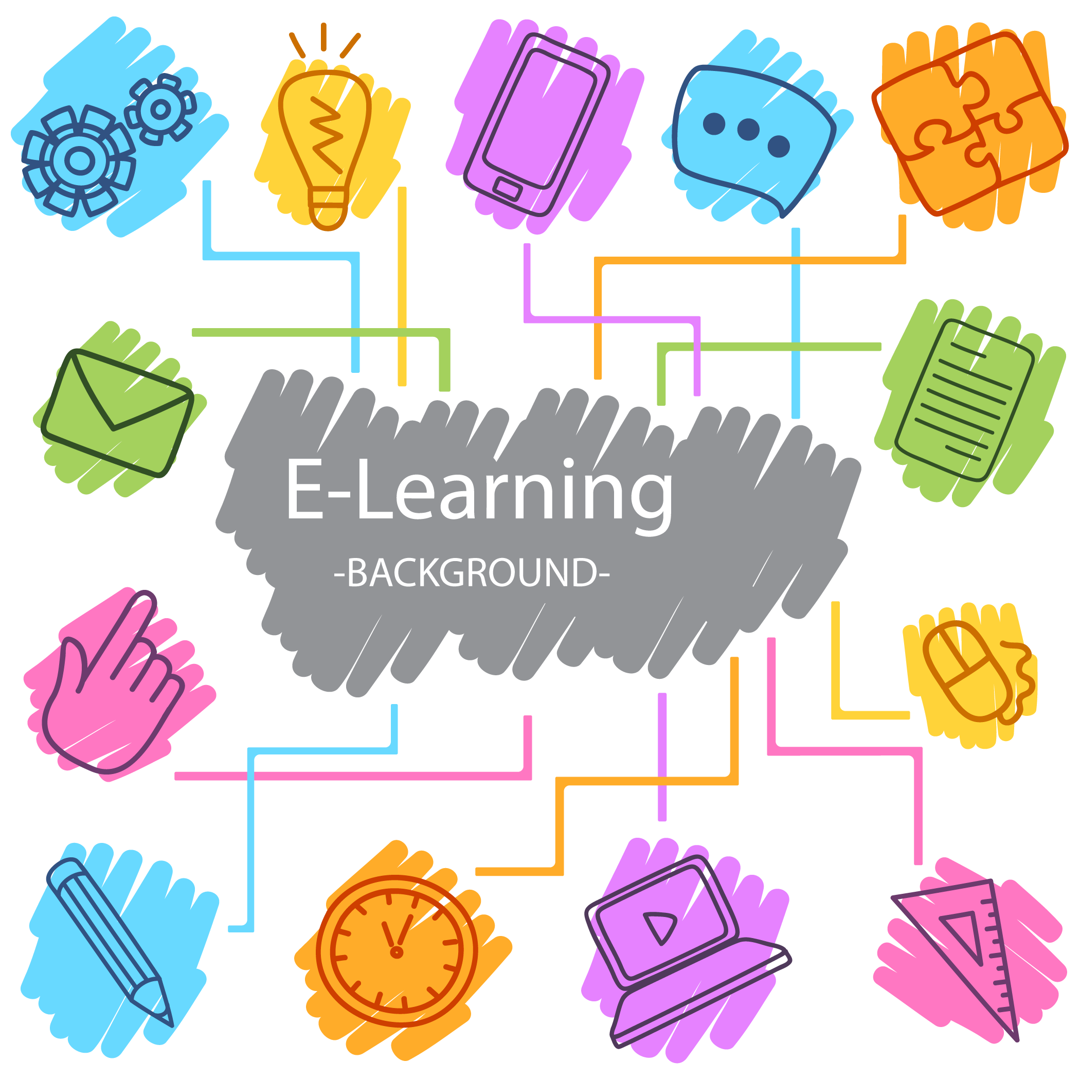 Clipart ruler chalk. Digital learning data icon