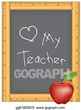 Eps illustration love my. Clipart ruler chalk