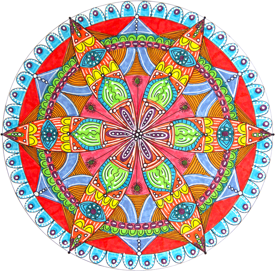 Dreamcatcher clipart mandala. How to draw a