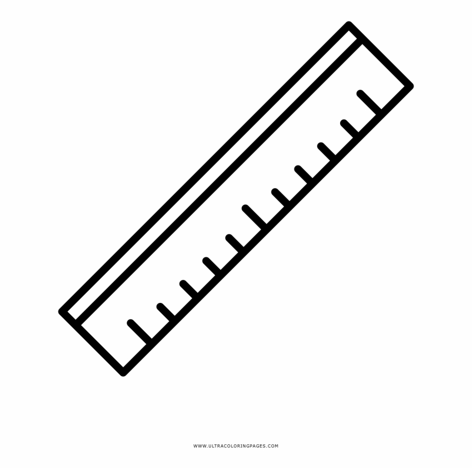 Rulers coloring page picture. Clipart ruler drawing