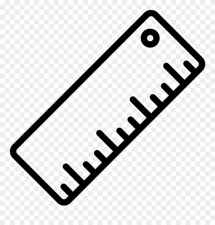 Clipart ruler drawing. Rulers easy icon pinclipart