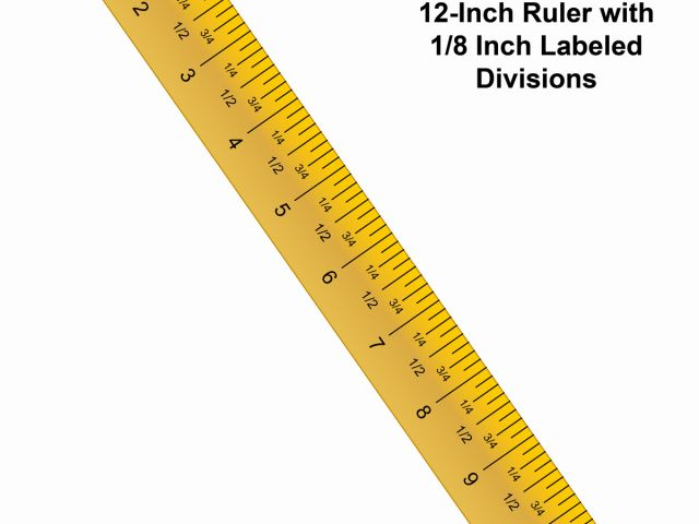 Printable or inch in. Clipart ruler full size